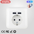 euro Germany usb electrical wall power socket