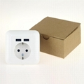 germany 16A 2.1A USB wall socket usb charging outlet receptacle 6