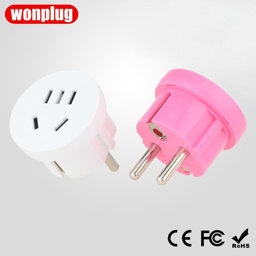 WP-4.8E China to Europe/Korea travel adapter plug