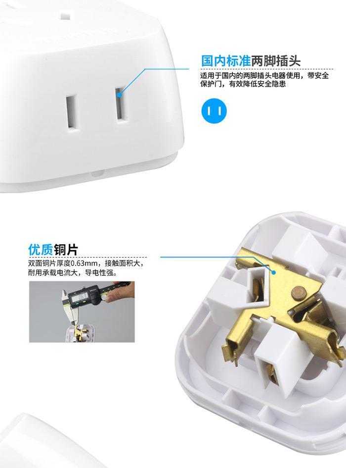 Mini 1 turn 4-way multi-socket power strip  8