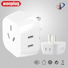 Mini Practical Australia/China/New Zealand travel adapter extension sockets
