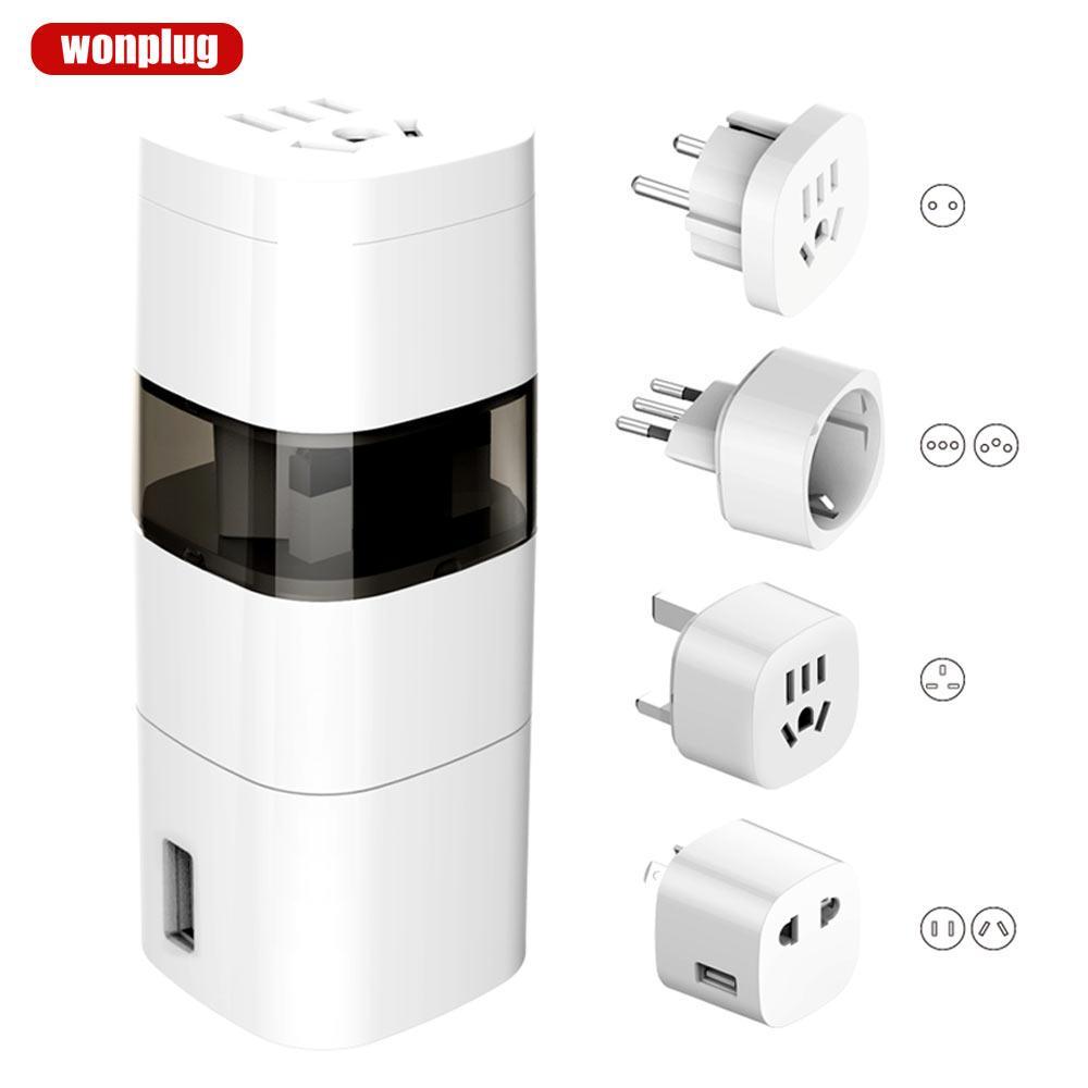 多国转换插头  旅游转换器 USB转换插座 万浦wonplug