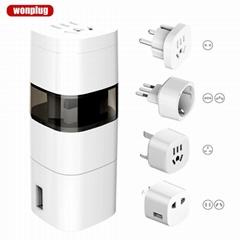 Hot sale Wolrd Travel Adapter with UK/US/AU/EU/Italy/Switzerland plug