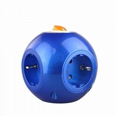 韩国/德国专用球形电源插座 家用排插 多用延长插座