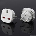 UK to Euro plug adapter with safety