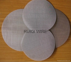 Stainless Steel Filter Cloth Wire Mesh Disc