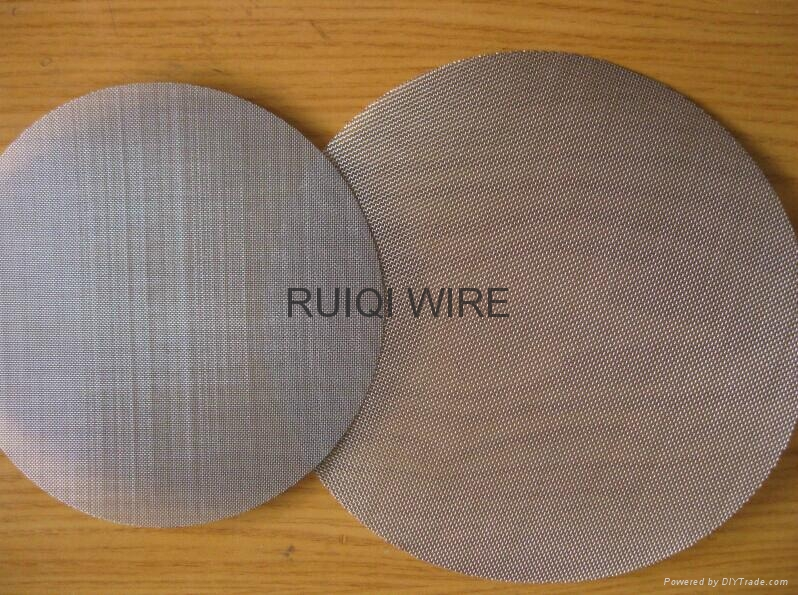 Stainless Steel Filter Cloth Wire Mesh Disc  2