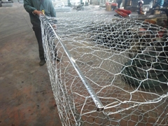 PVC Coated Heavily Galvanised Woven Gabion Basket Reno Mattress