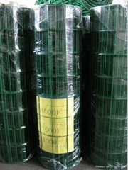 Green PVC Coated Garden Wire Mesh For Garden Fencing
