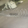 Heavy Ga  anised Concertina Razor Wire Barbed Tape Security Fencing 2