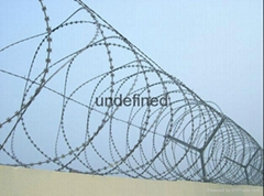 Heavy Ga  anised Concertina Razor Wire Barbed Tape Security Fencing
