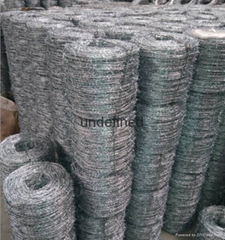High Security Galvanised Barbed Wire Fencing Mild Steel & High Tensile