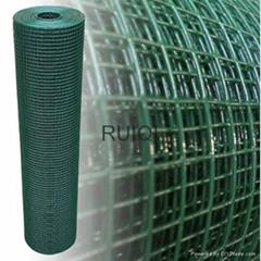 Green & Black PVC Coated Welded Wire Mesh Roll