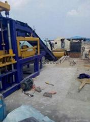 Semi-Automatic Solid Concrete Block Making Machine