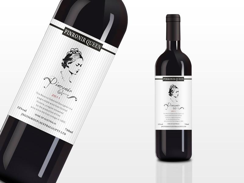 高档红酒酒标设计 3