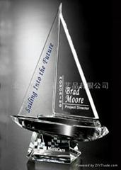 北京水晶獎杯