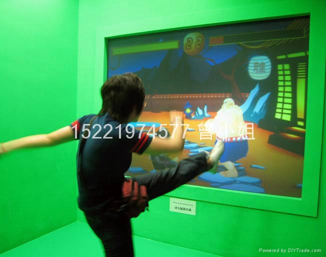 投影互動虛擬功夫拳擊 1