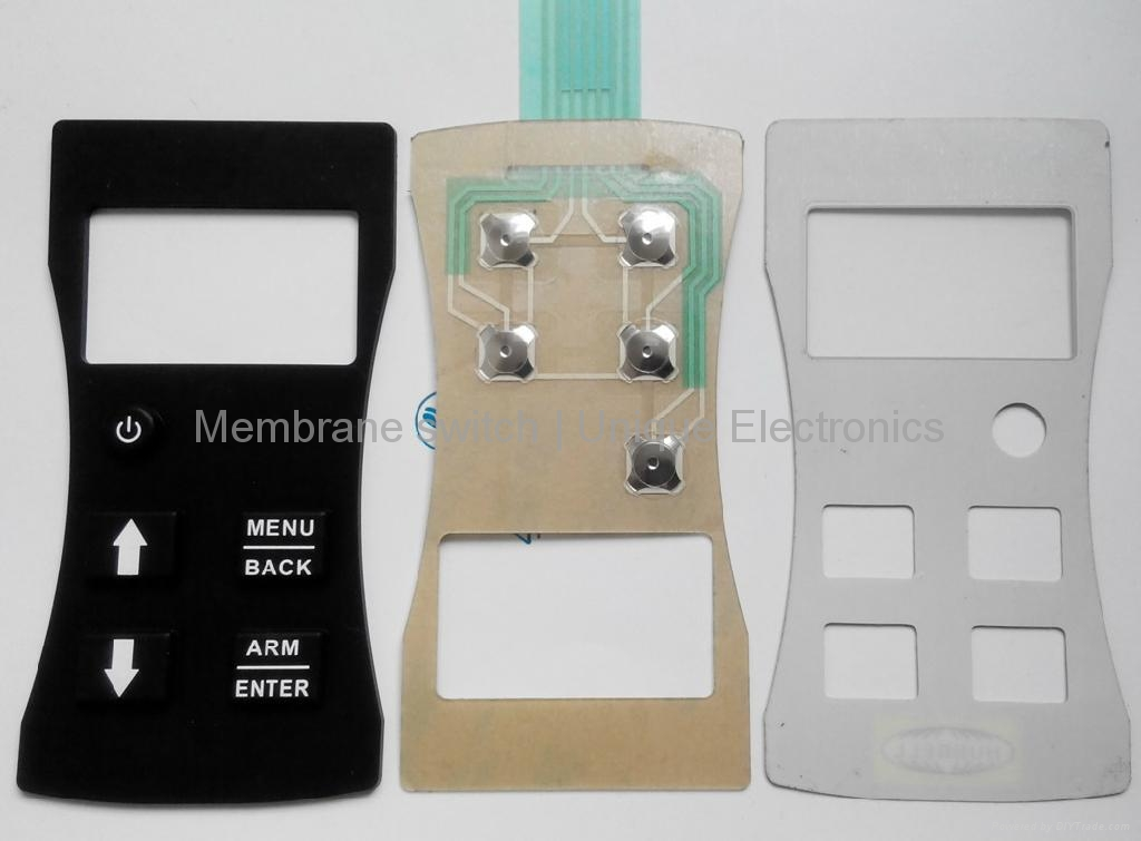 Rubber Keypad Membrane Switch with Tactile Metal Domes VTRS00317 3