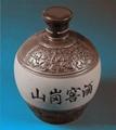 500ML圓口色泥陶瓷酒瓶