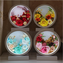 Preserved Flower Home Decoration Table Lamp Touch Screen Rechargeable Table Lamp