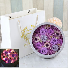 Preserved Flower Gift Box With Lights For Christmas Day Gifts (Hot Product - 1*)