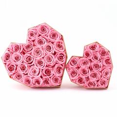 Preserved Flower Diamond Heart-shaped Gift Box Eternal Flower Gifts For Love