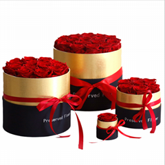 Preserved Roses Hug Bucket Gifts Eternal Flowers Gift Box For Valentines Day