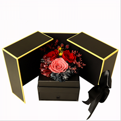 Preserved Flower Gift Box Drawer Jewelry Box For Girlfriend Valentine's Day Gift