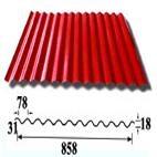 Aluminum corrugate plate