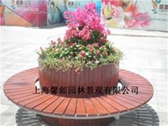 上海 厂家直销防腐木花箱