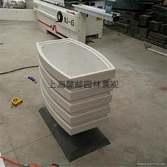 【上海塑料花箱】PVC塑膠木花箱