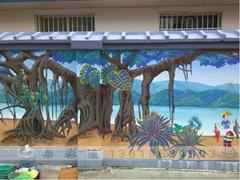 傣族文化墙体彩绘