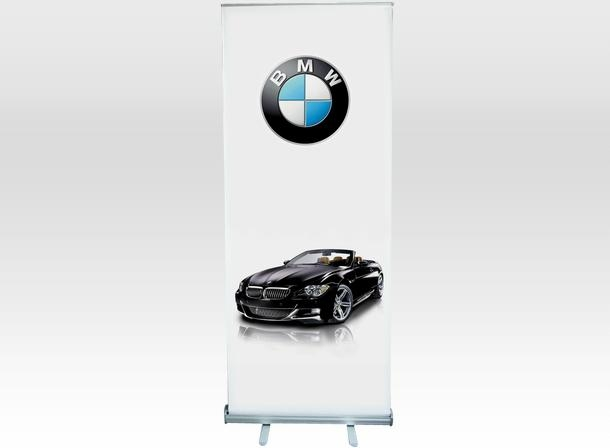 Economical roll up banner display stand  1