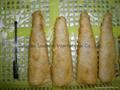 Prefried battered fish fillets