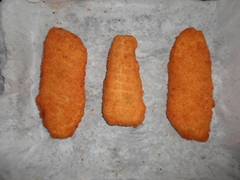 breaded and battered pollock fillets (Theragra Chalcogramma)