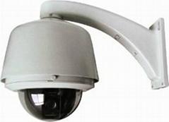 全金屬360度旋轉智能高速球形攝像機