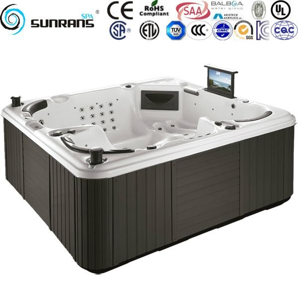 Luxury balboa system outdoor massage hot tub for 5 person for 3rd dimension salon