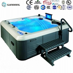 Hot sale sex massage outdoor whirlpool spa tub with Balboa system