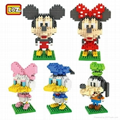 Wholesale LOZ Diamond Blocks New Mickey Superman Blocks Cartoon Building Toys