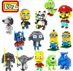 Wholesale Hot Cartoon LOZ Diamond Blocks Building Toys Nano Blocks