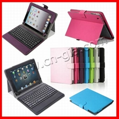 Apple iPad Stand Leather Case Cover With Bluetooth Keyboard