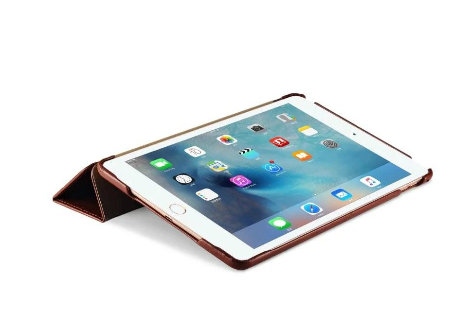 iCarer iPad Pro 12.9 inch Vintage Series With Triple Folded Leather Case 7