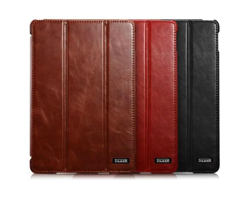 iCarer iPad Pro 12.9 inch Vintage Series With Triple Folded Leather Case 2