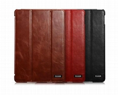 """ICARER Vintage Real Leather Smart Cover Protective Case for iPad Pro 12.9"""""""