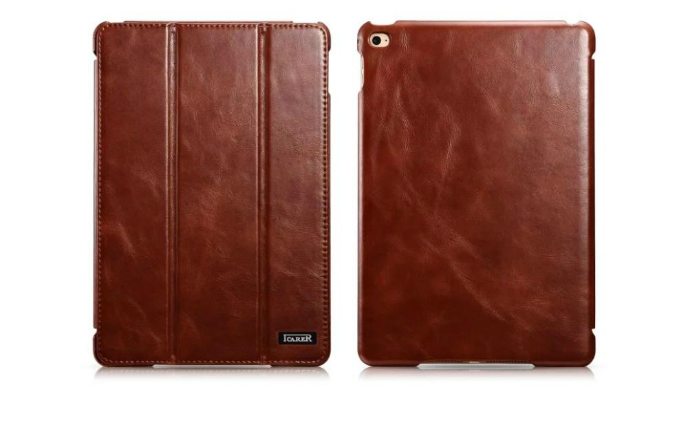 iCarer iPad Pro 12.9 inch Vintage Series With Triple Folded Leather Case 14