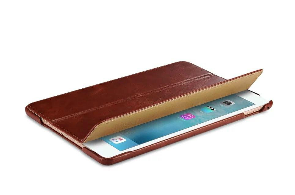 iCarer iPad Pro 12.9 inch Vintage Series With Triple Folded Leather Case 11