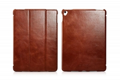 iCarer 9.7'' iPad Pro Case, Vintage Real Leather Smart Cover