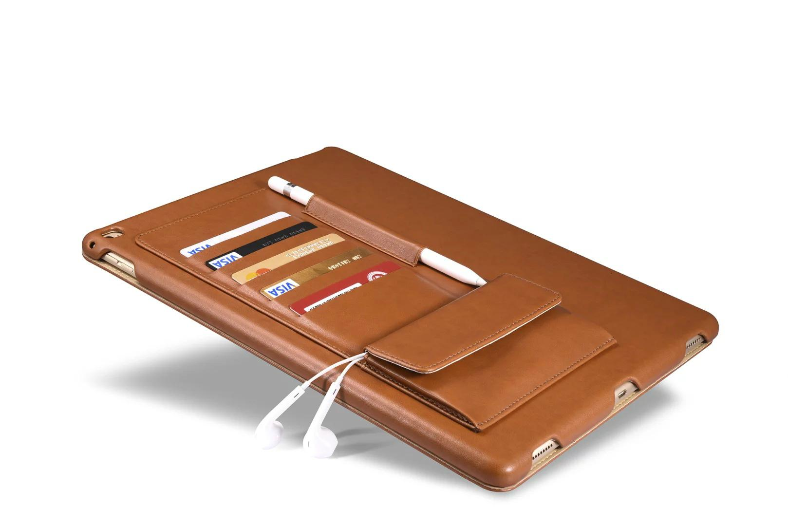 iCarer iPad Pro 12.9 inch Business Multi-credit cards Tablet PU Leather Case 3