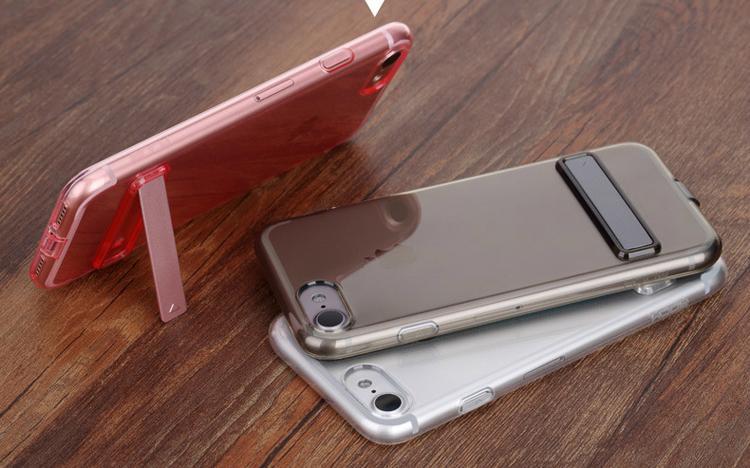 ROCK iPhone 7 TPU Slim Jacket Kickstand Case 10