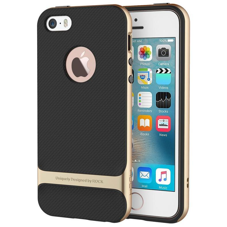 2017 ROCK iPhone SE Case, iPhone 5S Shockproof Case 3